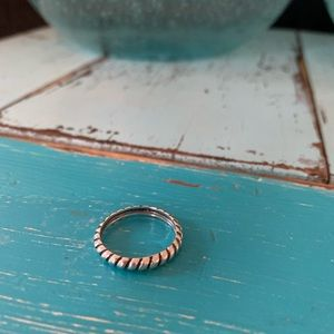 Silpada Belle Fleur Stacking Ring Sterling